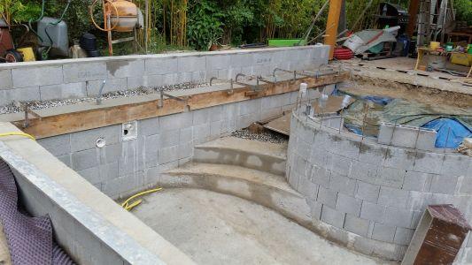autoconstruction piscine d bordement 7 6 x 4 sous abri les photos de la piscine. Black Bedroom Furniture Sets. Home Design Ideas