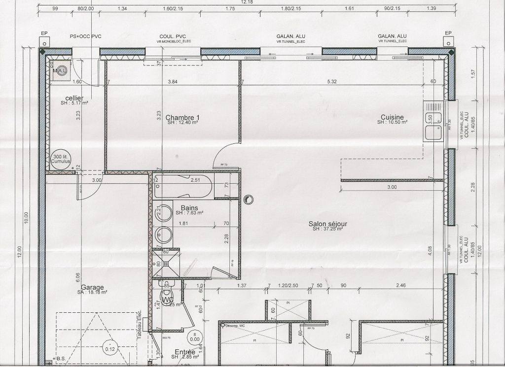 Photo plan int rieur de la maison fa ade arri re avec le for Plan interieur maison