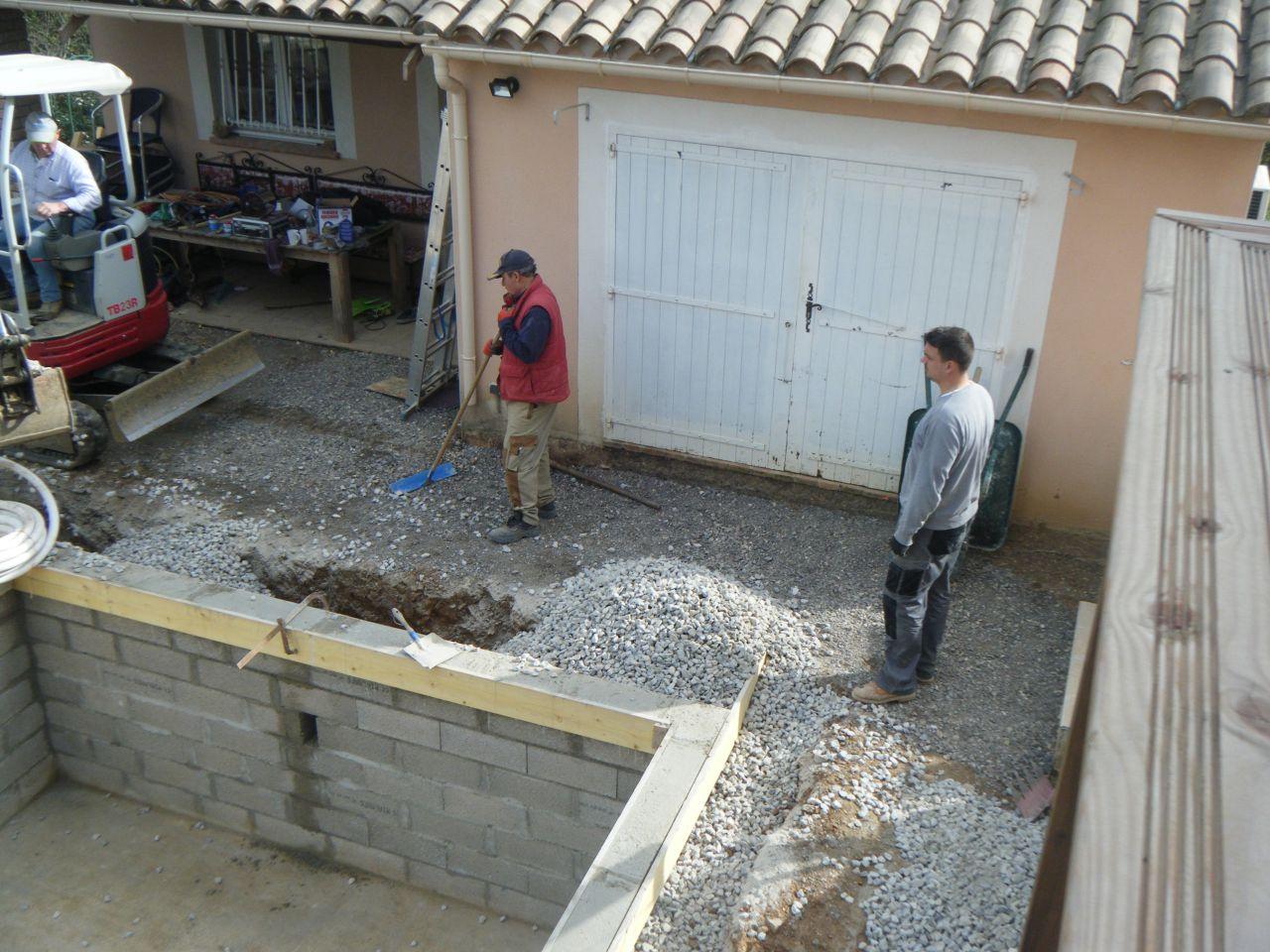 Photo comblement construction pose de la piscine for Forum construction piscine 56