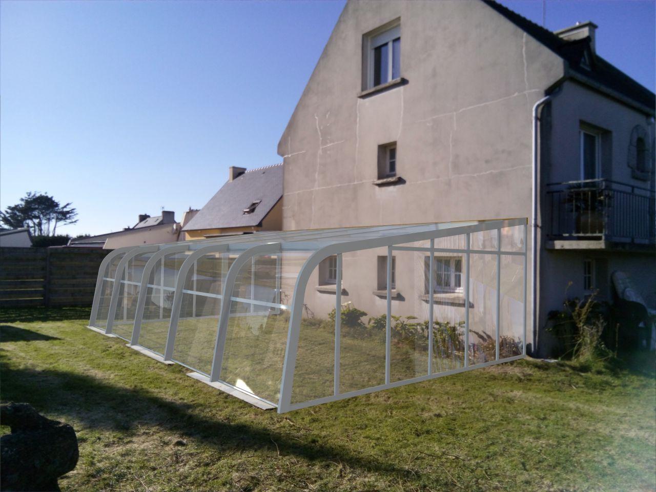 Photo photomontage de l 39 abri pour permis de construire for Permis de construire piscine