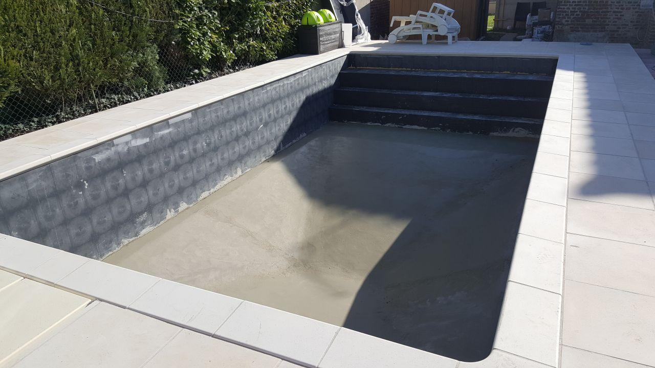 Photo chape de finition achev e construction pose de la piscine aisne - Forum piscine desjoyaux ...