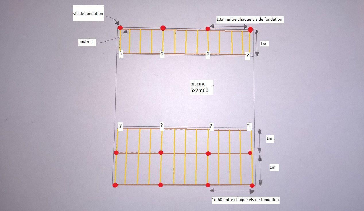 plage en bois sur vis de fondation coque. Black Bedroom Furniture Sets. Home Design Ideas