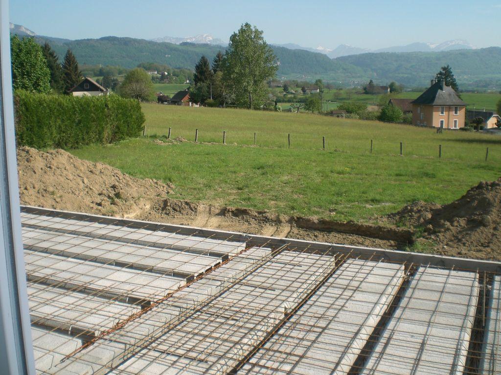 Photo pr paration terrasse b ton construction pose de for Construction piscine savoie
