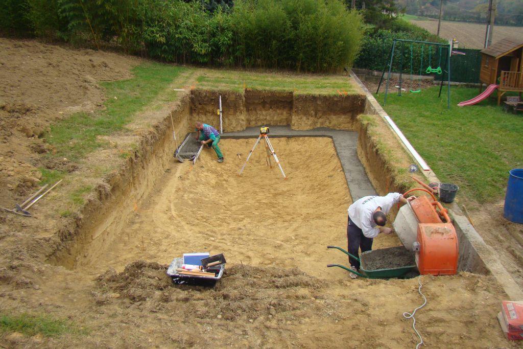 Photo r alisation de la semelle de propret construction for Forum construction piscine 56