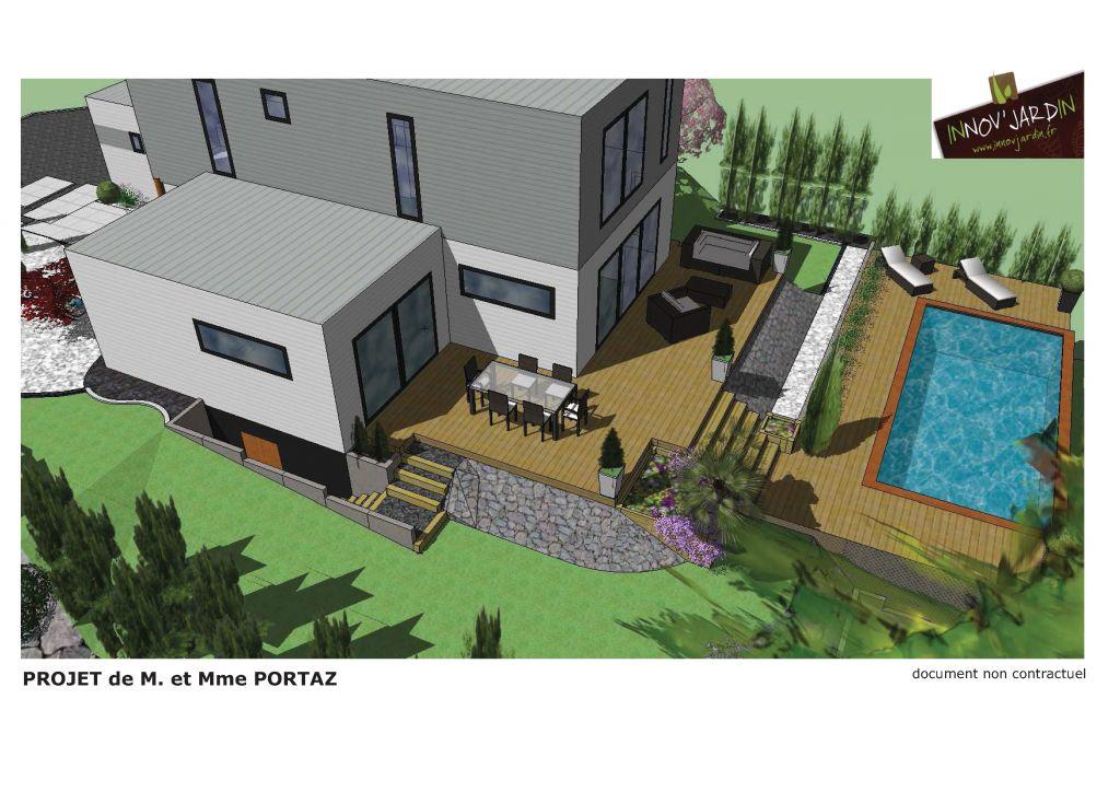 Photo plan du projet d 39 am nagement ext rieur bas rhin for Projet amenagement exterieur
