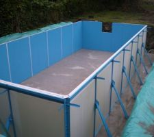 Pose de Panneaux isolants sur la structure