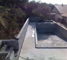 Les terrasses en beton sont faites