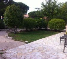 Jardin au 1er novembre 2013... Futur emplacement de la piscine ...