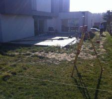 Implantation des chaises  piscine de 4,94x4,94m