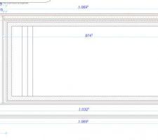 Voici le plan de la terrasse que nous allons commencer ce weekend.