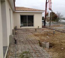 Ferraillage de la terrasse et du solarium.