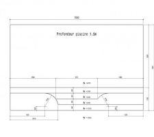 Voici les plan de ma piscine avec plage (20cm d'eau) et banc (50cm d'eau)