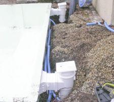 Le puits de décompression et les 2 skimmers