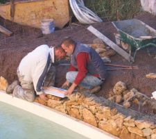 Construction du muret