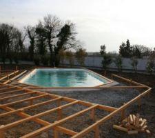 Structure de la terrasse en cours