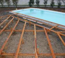 Structure de la terrasse