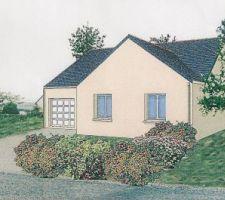 Perspective de notre future maison, attention coté garage, il y aura un voisin.