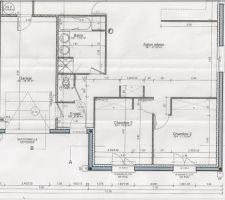 Plan intérieur de la maison façade avant
