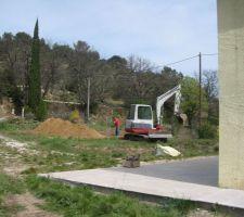 Début de l'excavation