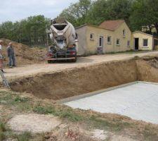 Arrivée du beton.
