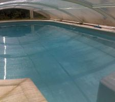 Vue de la piscine dans le spa température 26°