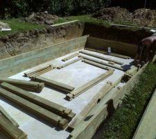 Montage de la structure bois.