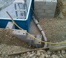 Tuyau de drainage vers puit de décompression
