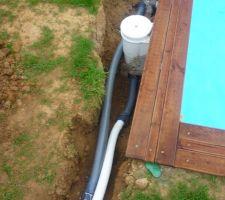 La pompe est placée, raccordée et tout semble fonctionner parfaitement !