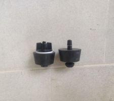 Bouchon hivernage transformé avec une valve de voiture