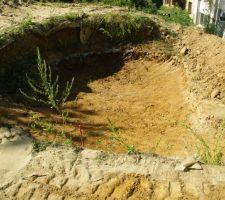 Le trou a été creusé