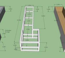 Cotations de la structure enterée de la piscine