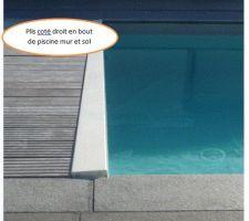 Plis suite eau sous le liner
