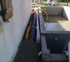 Passage gaine ventilation, électrique et eau