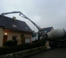Livraison beton 9m3 autonivellant fibré