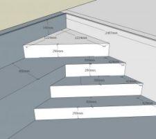 Et voila j'ai fini le plan de l'escalier... merci pour vos commentaires