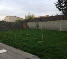Le jardin avant terrassement