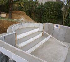 Escalier, skimmer, logement de la NCC