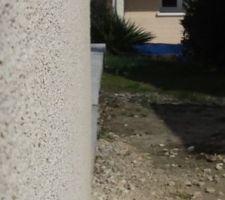 Décalage entre aplomb maison et terrasse
