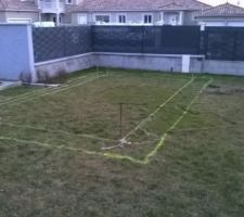 Préparation pour le terrassement