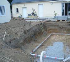 Terrassement et préparation pour le radier