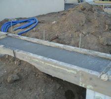 Coulage des cheminements pour la terrasse mobile