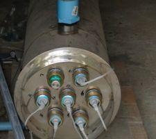 7 tubes UV-C de 40w dans une gaine en quartz