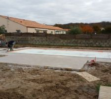 Coulage terrasse beton imprimé