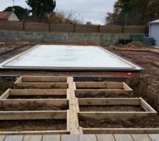 Coffrage terrasse beton imprimé