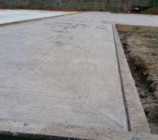 Terrasse beton imprimé