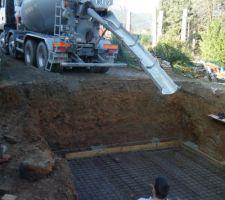 8 cubes de beton seront necessaire pour une dalle de 20 cm...