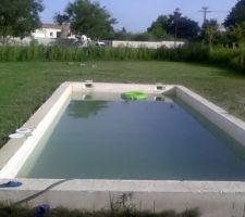1ere mise en eau - été 2015