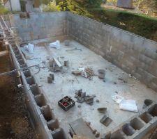 Le bassin avant coulage du béton