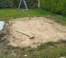 Récupération du lit de sable pour plut tard