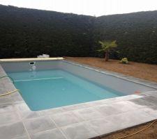 Poursuite du remplissage de la piscine